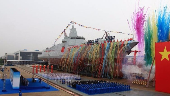 China Launches First Of Its New-Generation Naval Destroyers