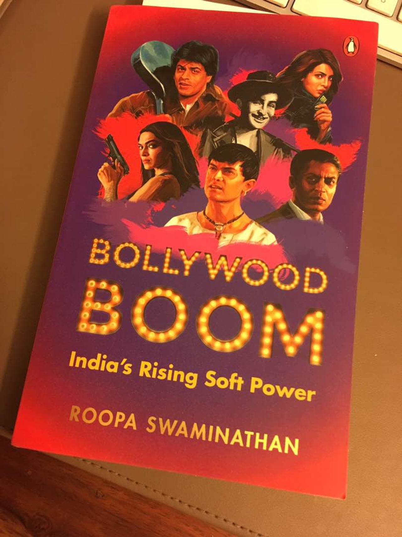 The book cover of 'Bollywood Boom: India's Rising Soft Power' by Roopa Swaminathan
