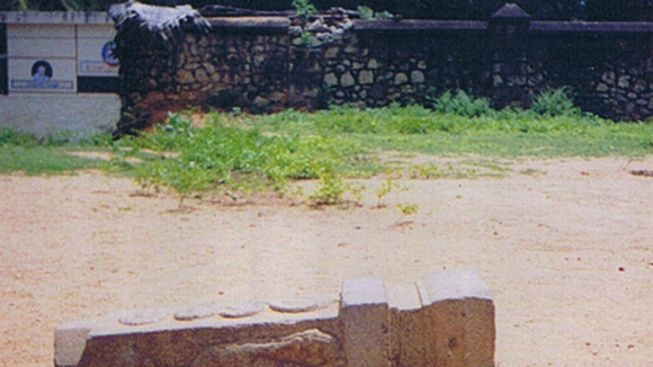 A fallen pillar – not rare to see because of the lack of care and attention.