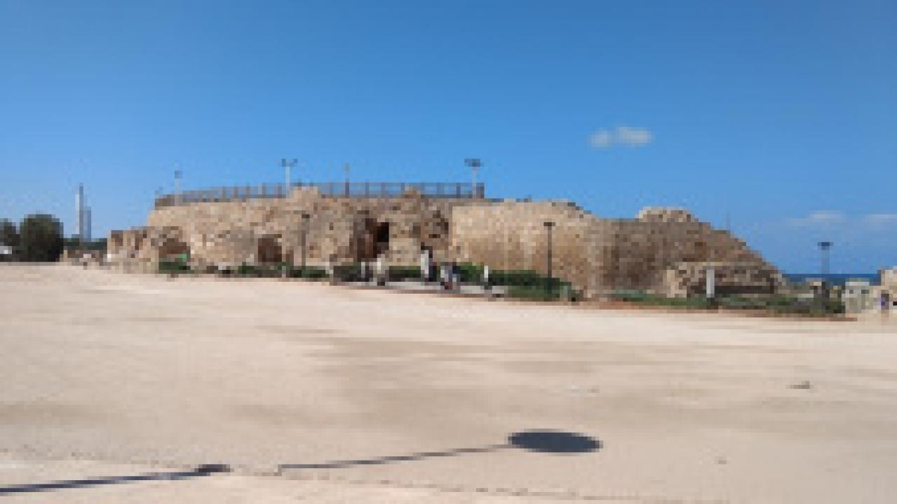 The harbour at Caesarea