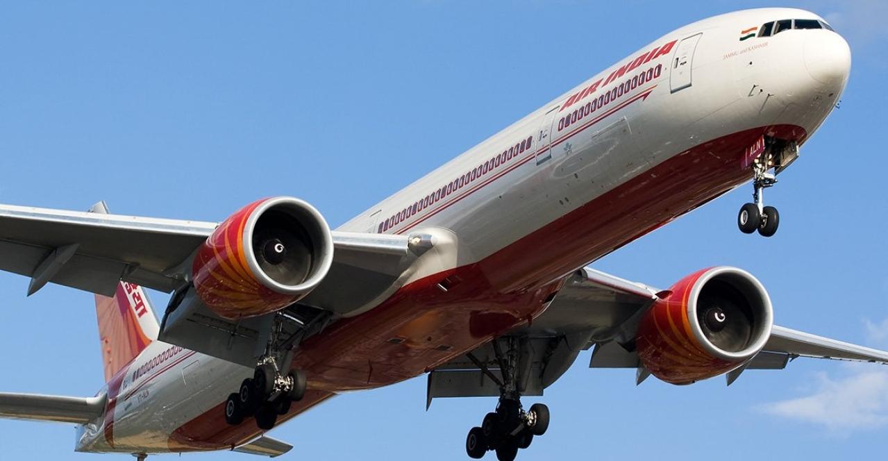 An Air India jet.