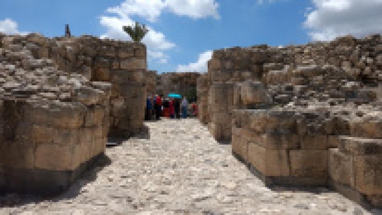 The ruins of Megiddo