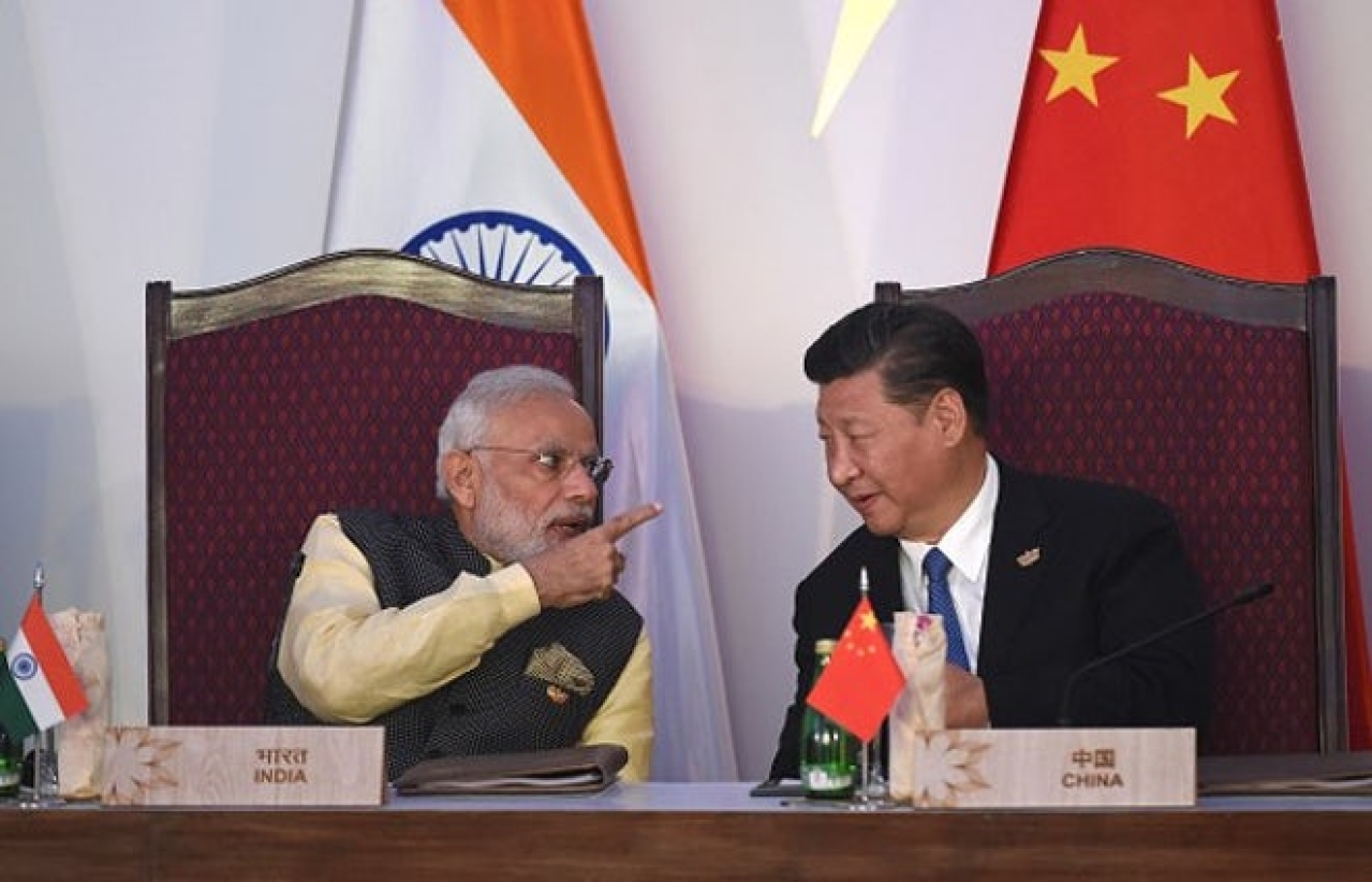 Prime Minister Narendra Modi with Chinese President Xi Jinping. (GettyImages)