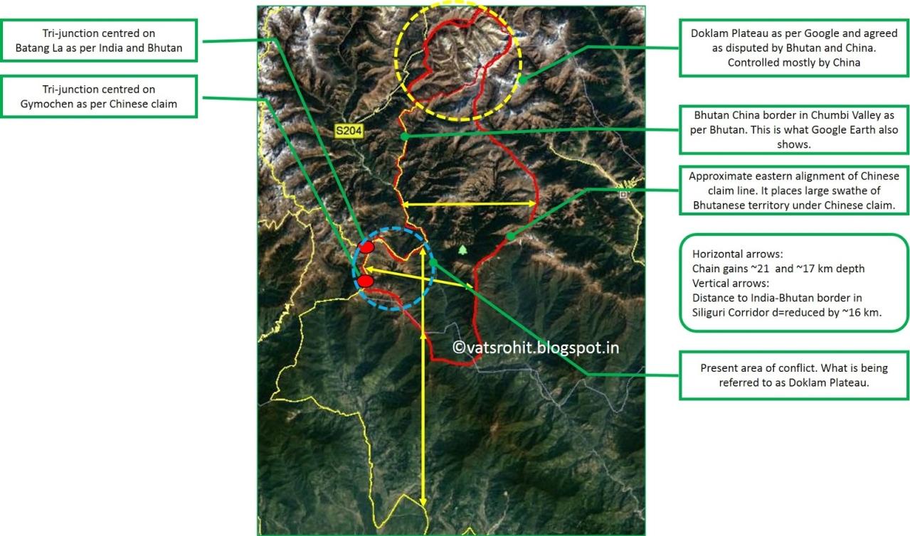 Chinese claim line (Google Earth)