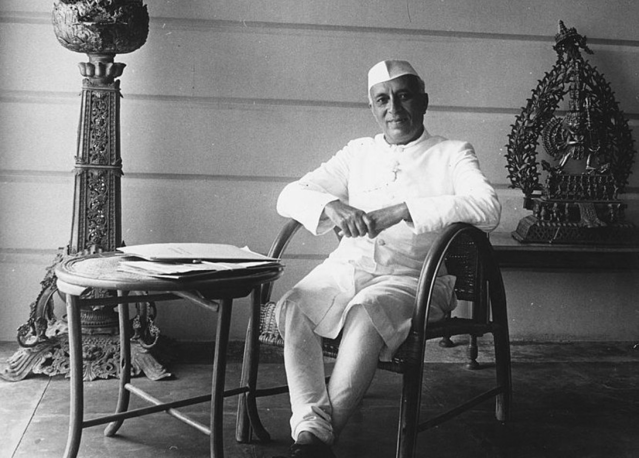 Jawaharlal Nehru, the first prime minister of India. (Keystone Features/GettyImages)