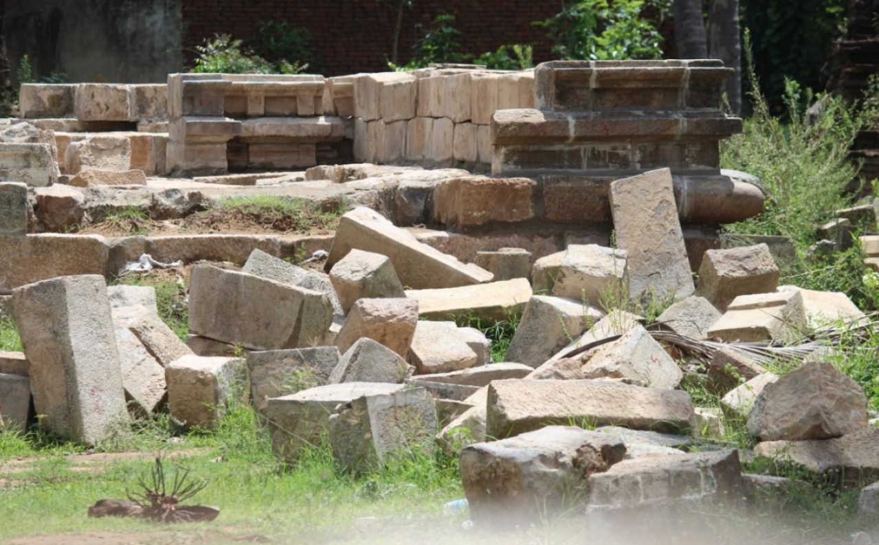 Demolished temple: A recent UNESCO report brought to light this demolition by the state.