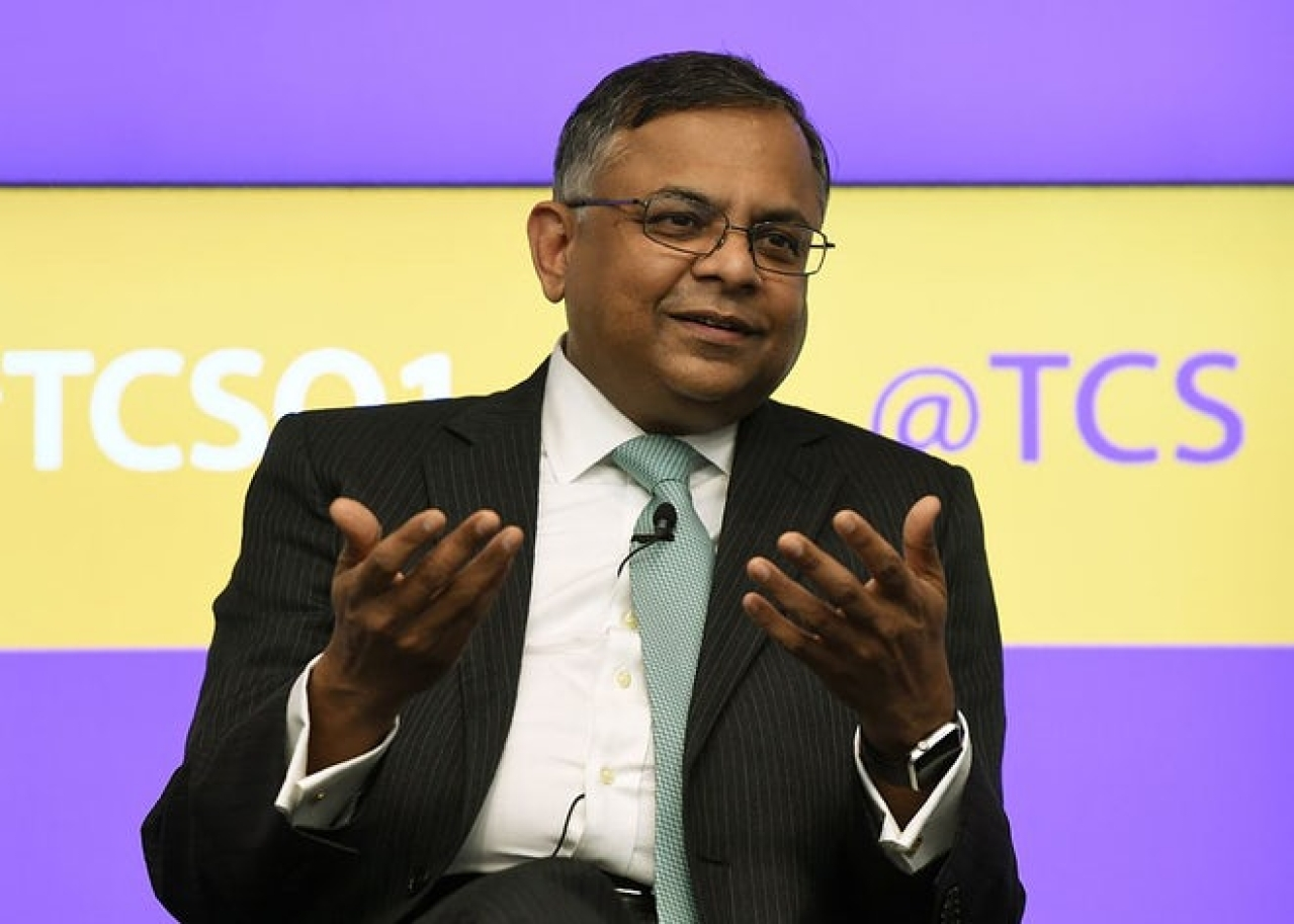 Tata Sons chairman N Chandrasekaran. (PUNIT PARANJPE/AFP/GettyImages)