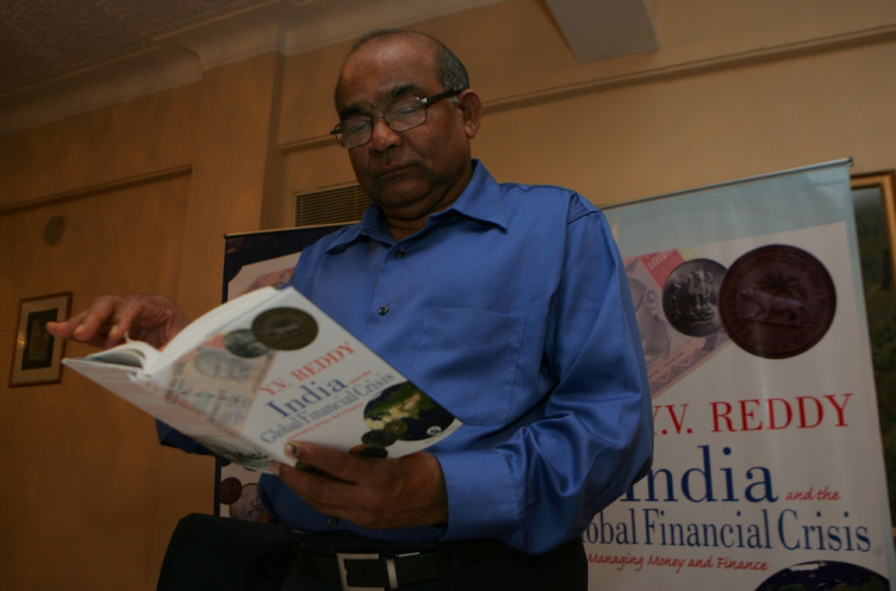 ExGovernor of RBI Y.V. Reddy at introduction of Book India and Global Financial Crisis in Mumbai on Thursday (Anshuman Poyrekar/Hindustan Times via Getty Images)