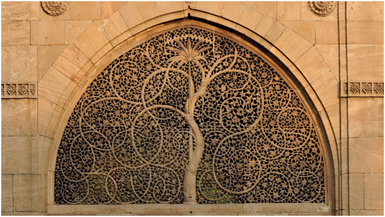 Facade of the Sidi Saiyyed Mosque, built in 1573, in Ahmedabad (SAM PANTHAKY/AFP/Getty Images)