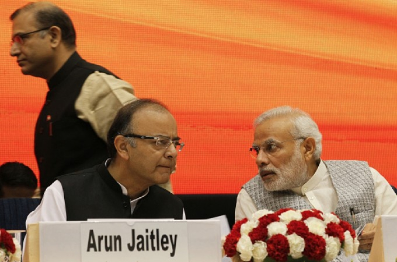 Prime Minister Narendra Modi with Finance Minister Arun Jaitley (Arvind Yadav/Hindustan Times via Getty Images)