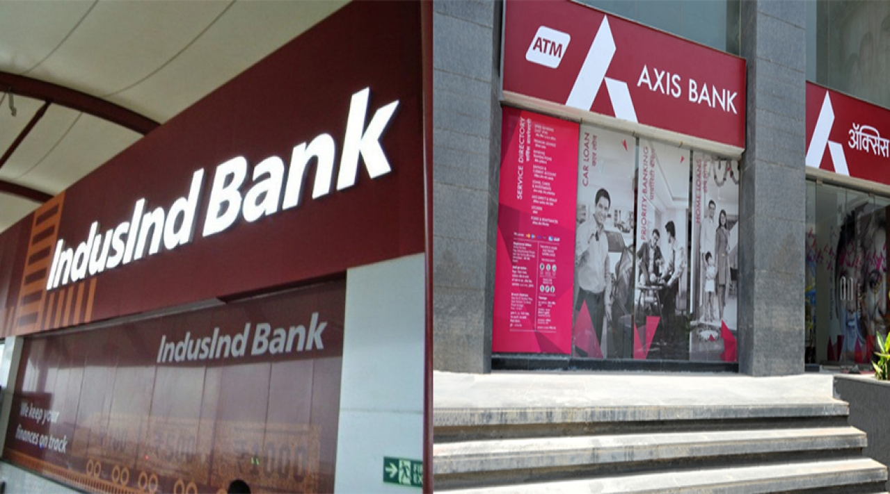 IndusInd Bank and Axis Bank.