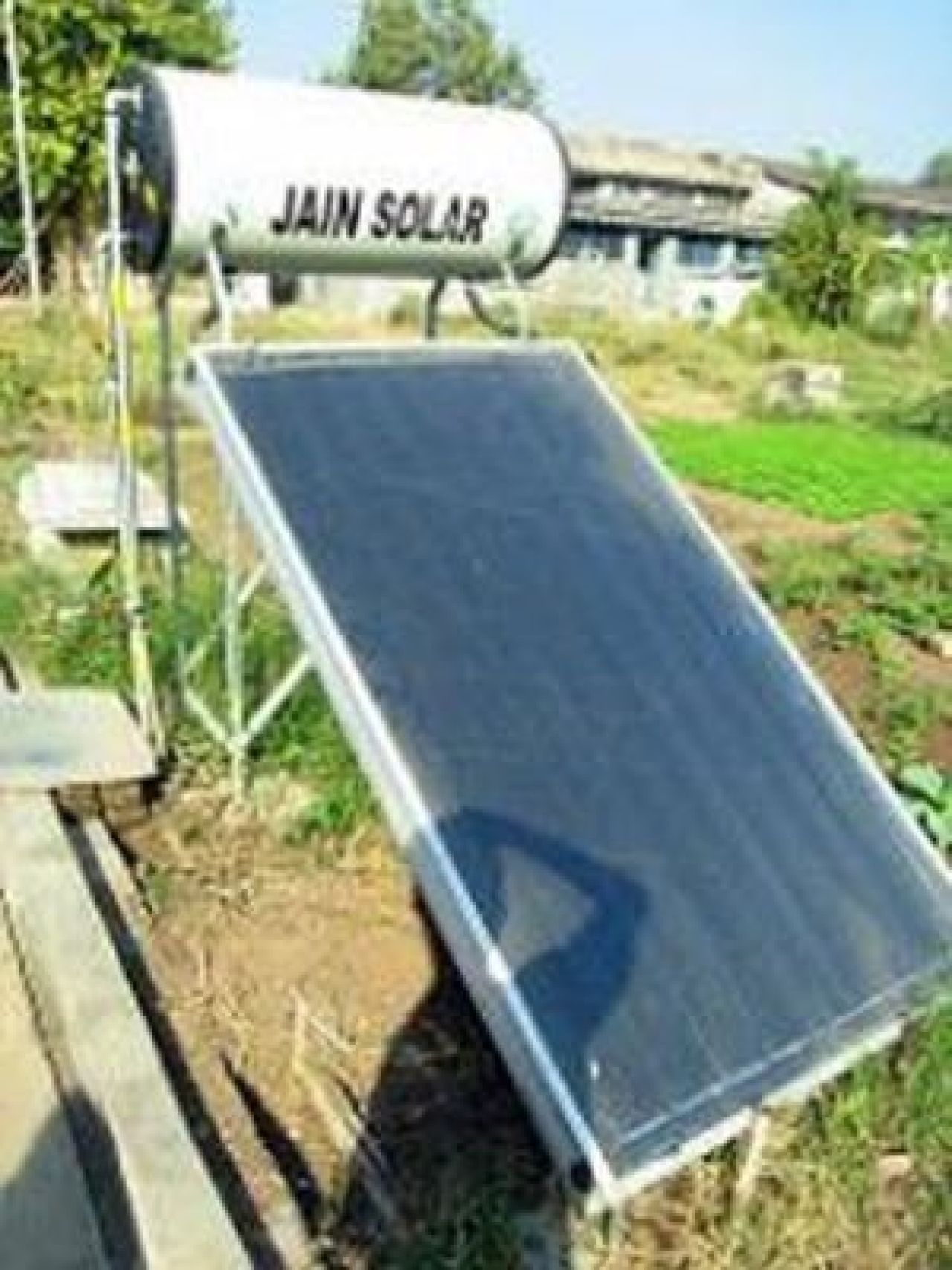 Solar HWHs are compact fixtures which are typically placed on rooftops so that gravity easily feeds hot water down into the home's plumbing. (Photo Courtesy: Ajay Tallam)