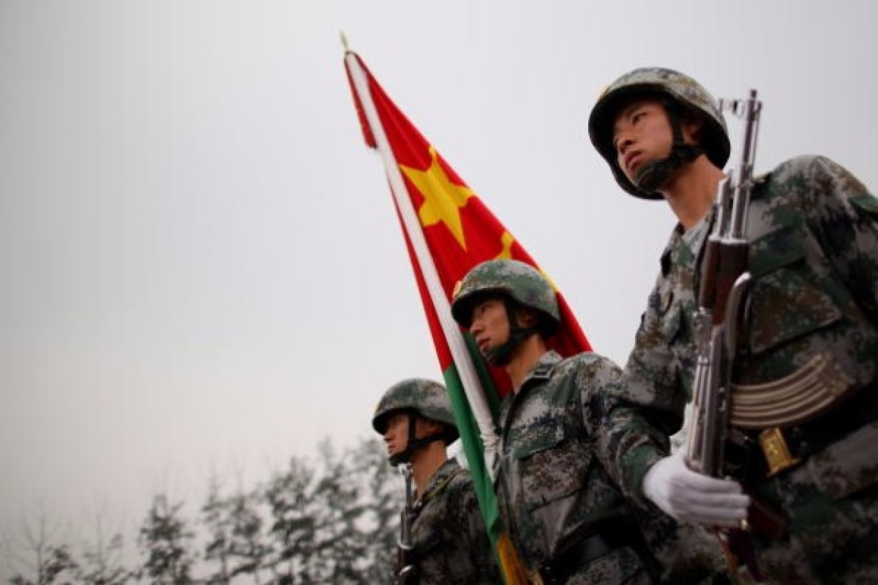 People's Liberation Army soldiers show off their skills in Beijing, China. (Feng Li/Getty Images)