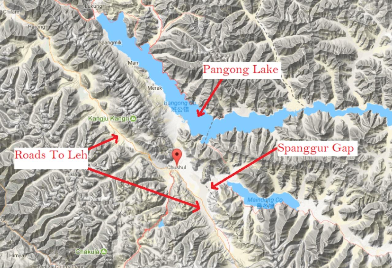 Location of Spanggur Gap. (Source: elevationmap.net)