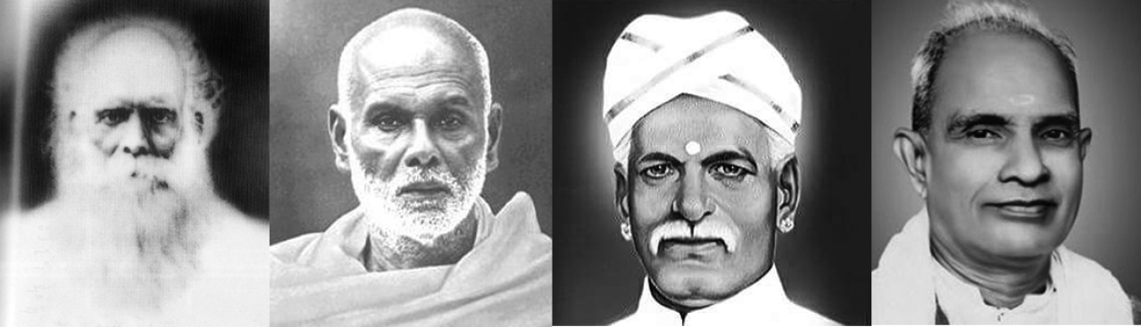 In Kerala, social reform has a long history and is rooted in Vedantic humanism and not Marxism: (From left to right) Vidyadhirraja Chattampi Swamigal, Sri Narayana Guru, Mahatma Ayyankali and Mannathu Padmanabhan