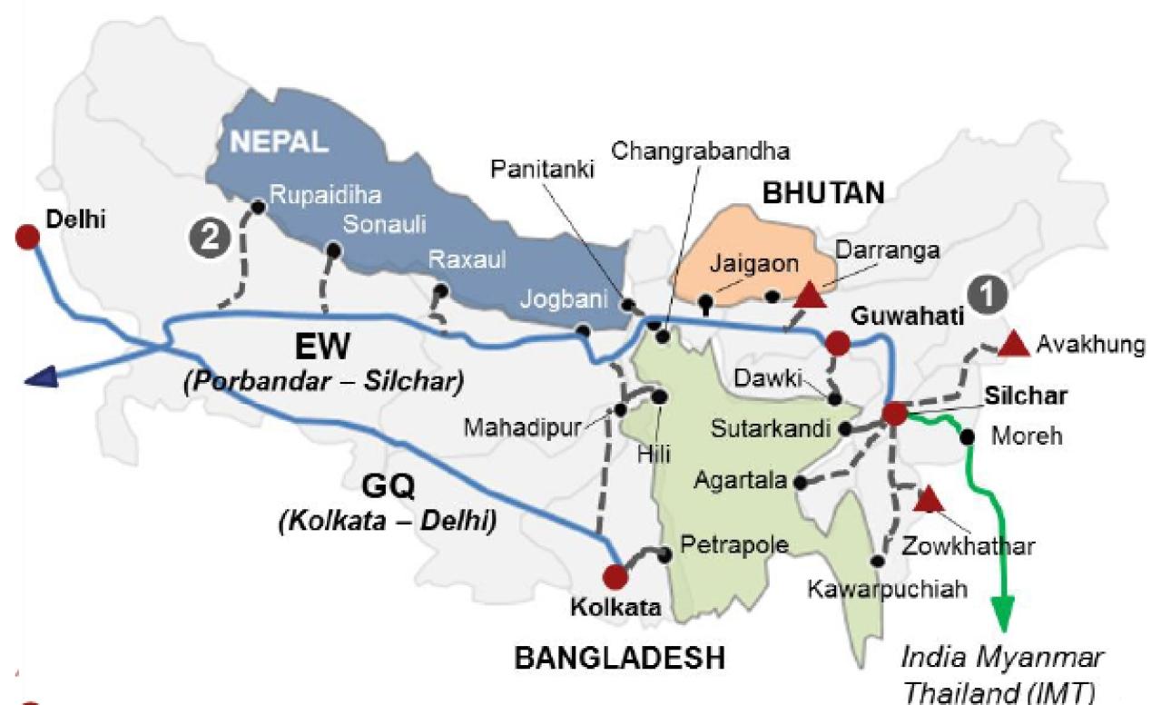 Integrating Bangladesh-Bhutan-Nepal and Myanmar-Thailand corridors