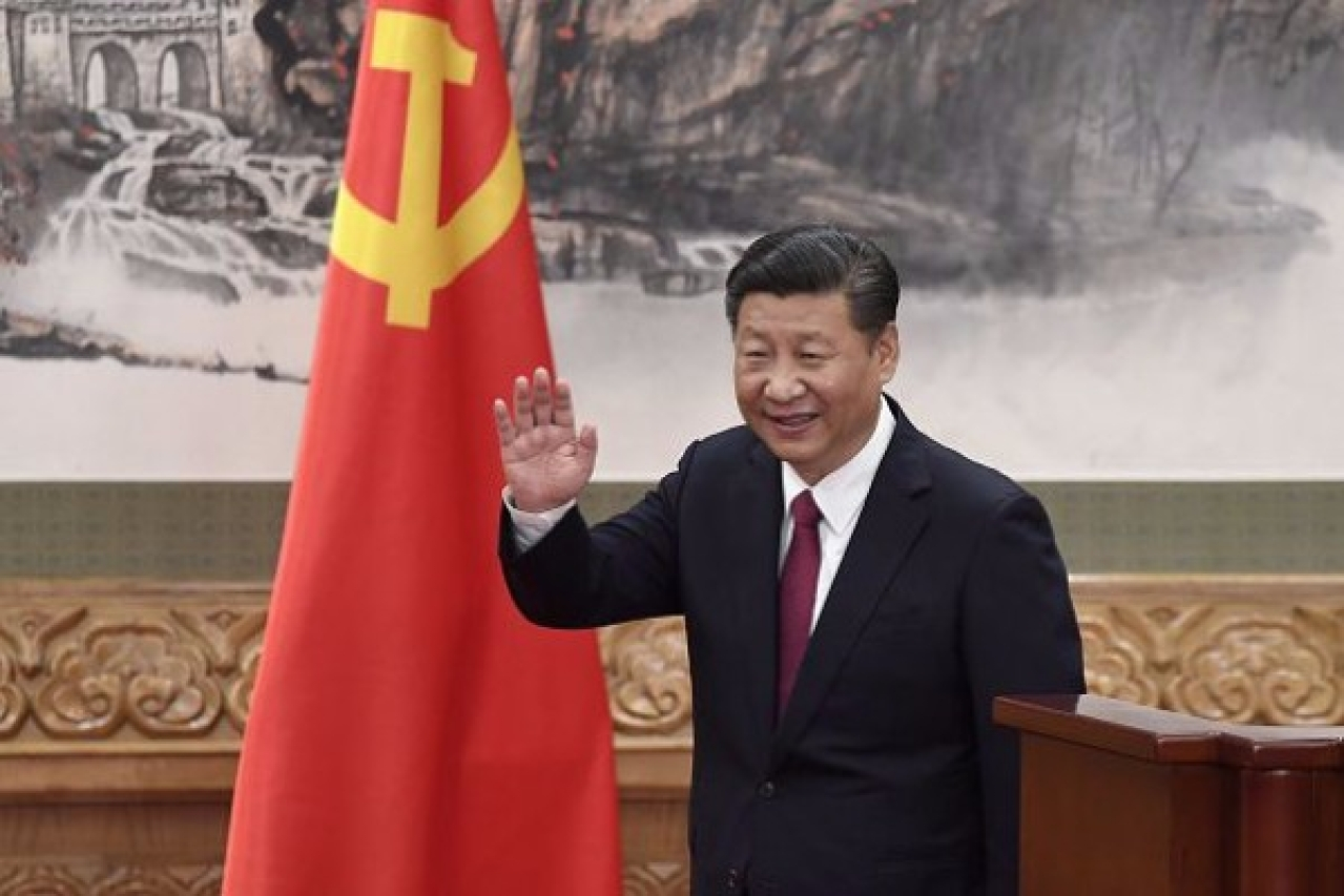 Chinese President and General Secretary of the Communist Party Xi Jinping  in Beijing's Great Hall of the People. (WANG ZHAO/AFP/Getty Images)
