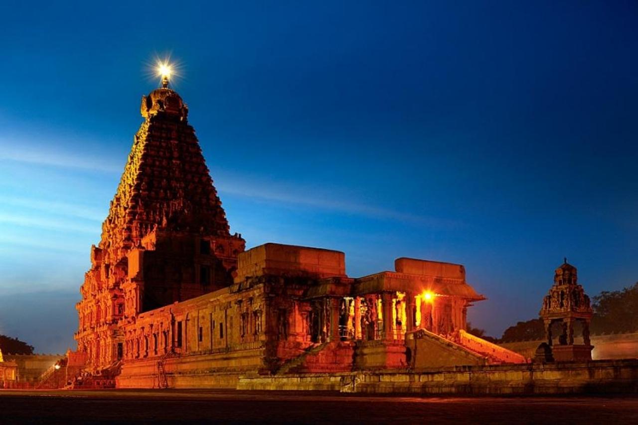 Brihadeshwara Temple, dedicated to Lord Shiva, constructed by Rajendra Chola