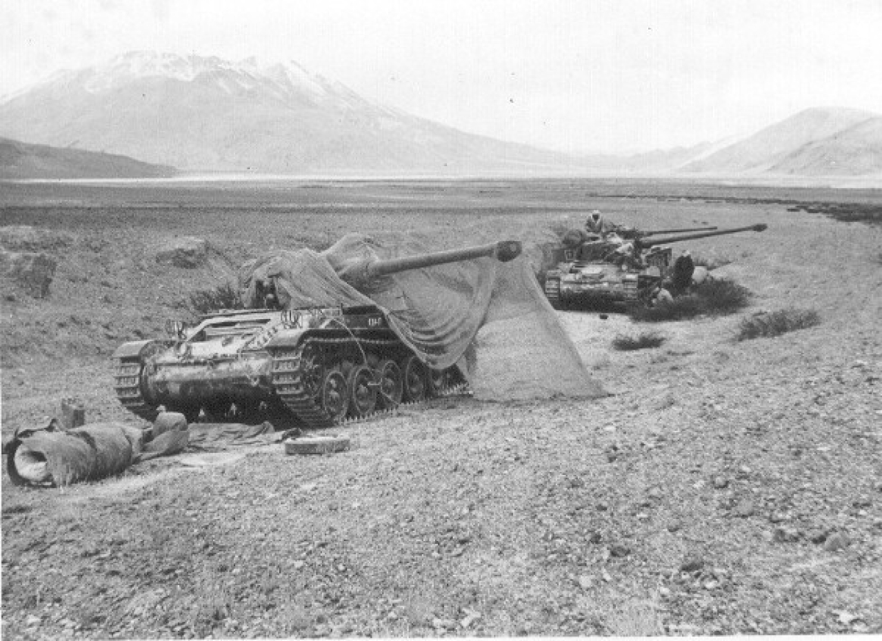 AMX-13s of the Indian Army 20 Lancers in the Chushul area in 1962. (India Remembers/Flickr)