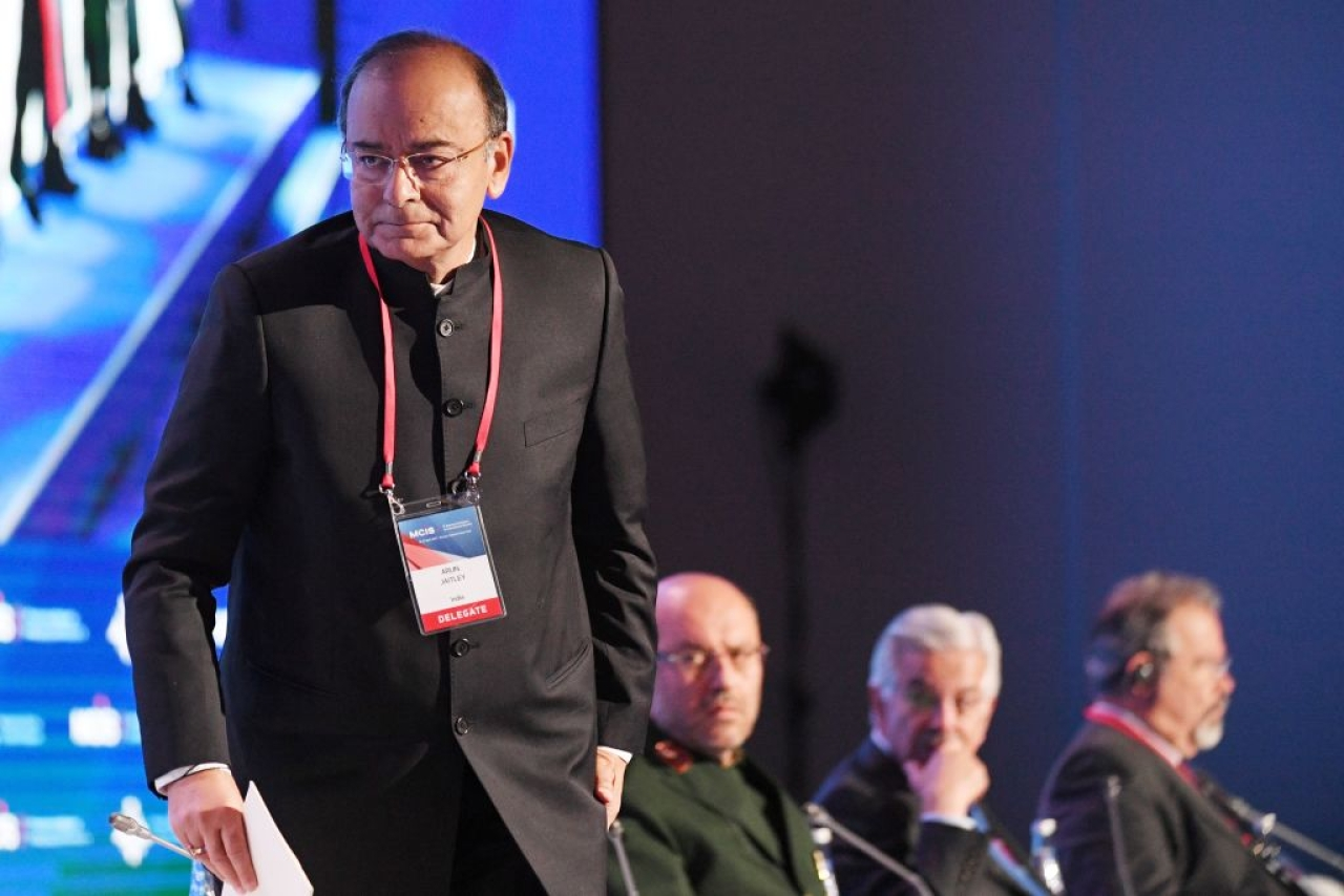 Finance Minister Arun Jaitley. (NATALIA KOLESNIKOVA/AFP/Getty Images)