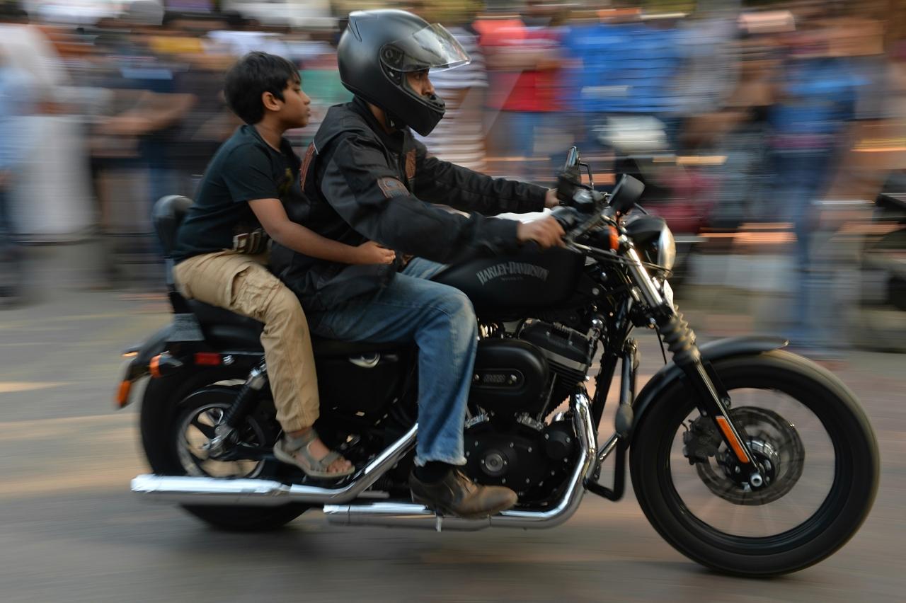 A Harley Davison rally in Bangalore (MANJUNATH KIRAN/AFP/Getty Images)