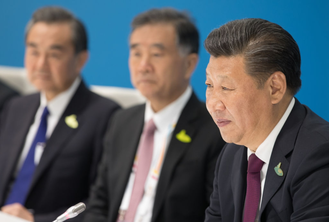 Chinese President Xi Jingping, right. (Matt Cardy/Getty Images)