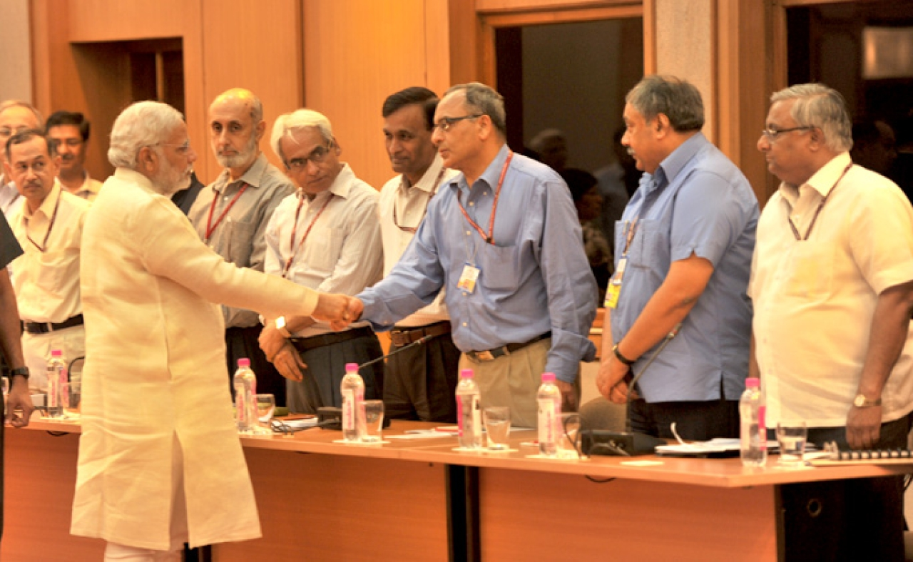 Prime Minister Narendra Modi meeting government secretaries. (PMO website)