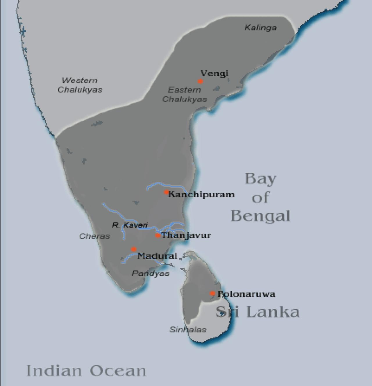 Rajaraja Chola's Empire (Wikimedia Commons)