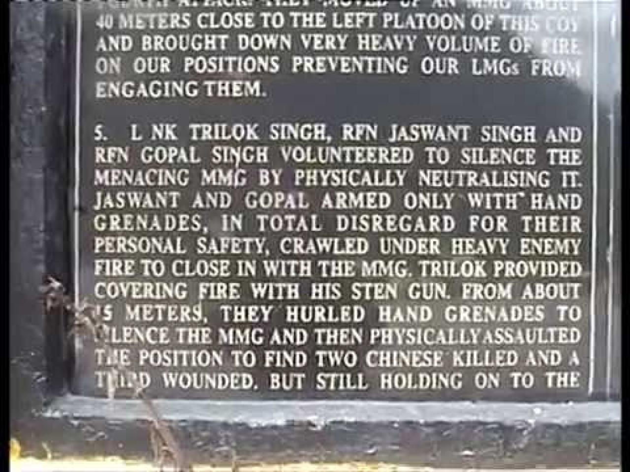 An inscription at the war memorial