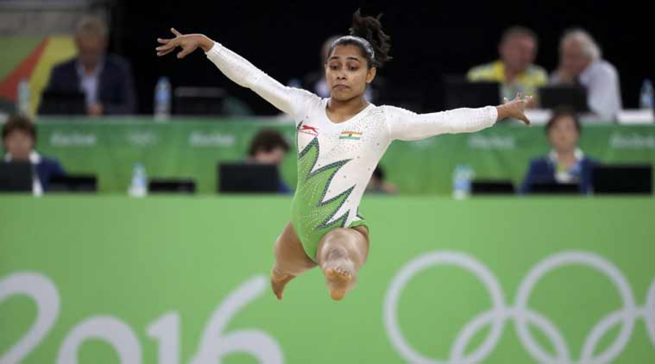 Dipa Karmakar in action during the Rio Olympics 2016. (Indian Express/Wikimedia Commons)