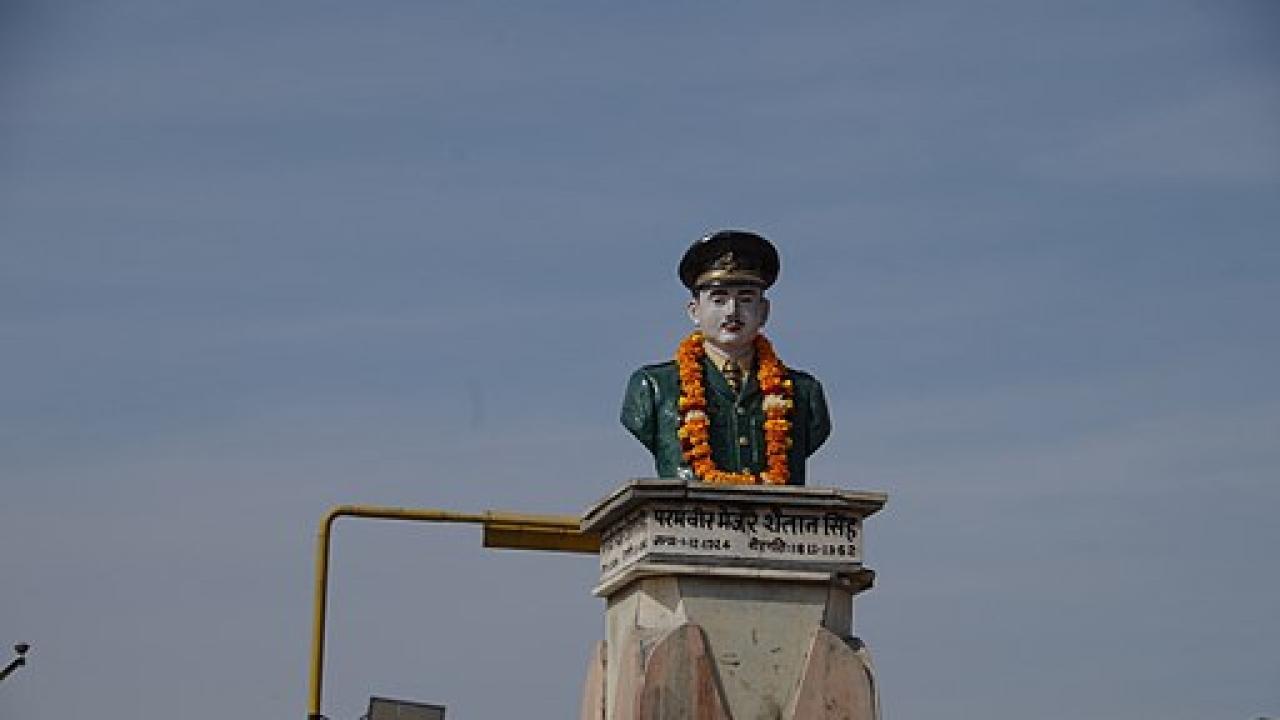 A bust of Major Shaitan Singh (Medovar/Wikimedia Commons)