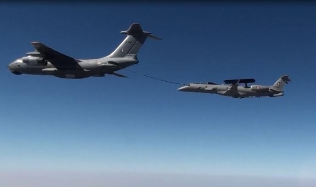 Watch: IAF's Early Warning Aircraft Gets Refueled Mid-Air By IL-78M Tanker For The First Time