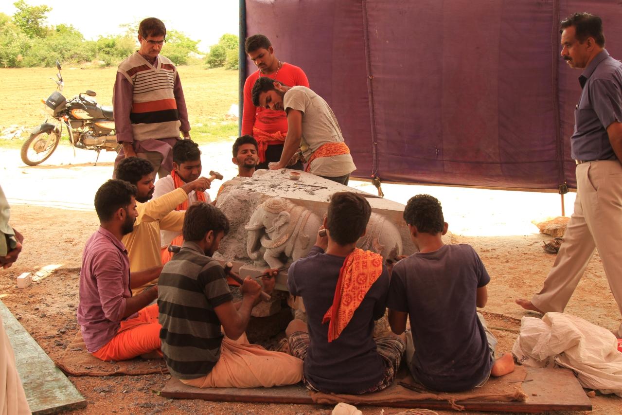 Sculptors at work at Karkala