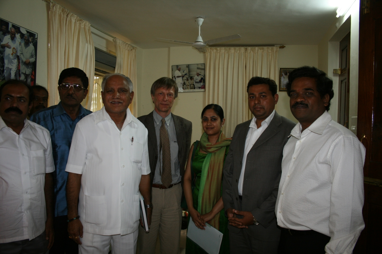 The team with the then chief minister B S Yeddyurappa