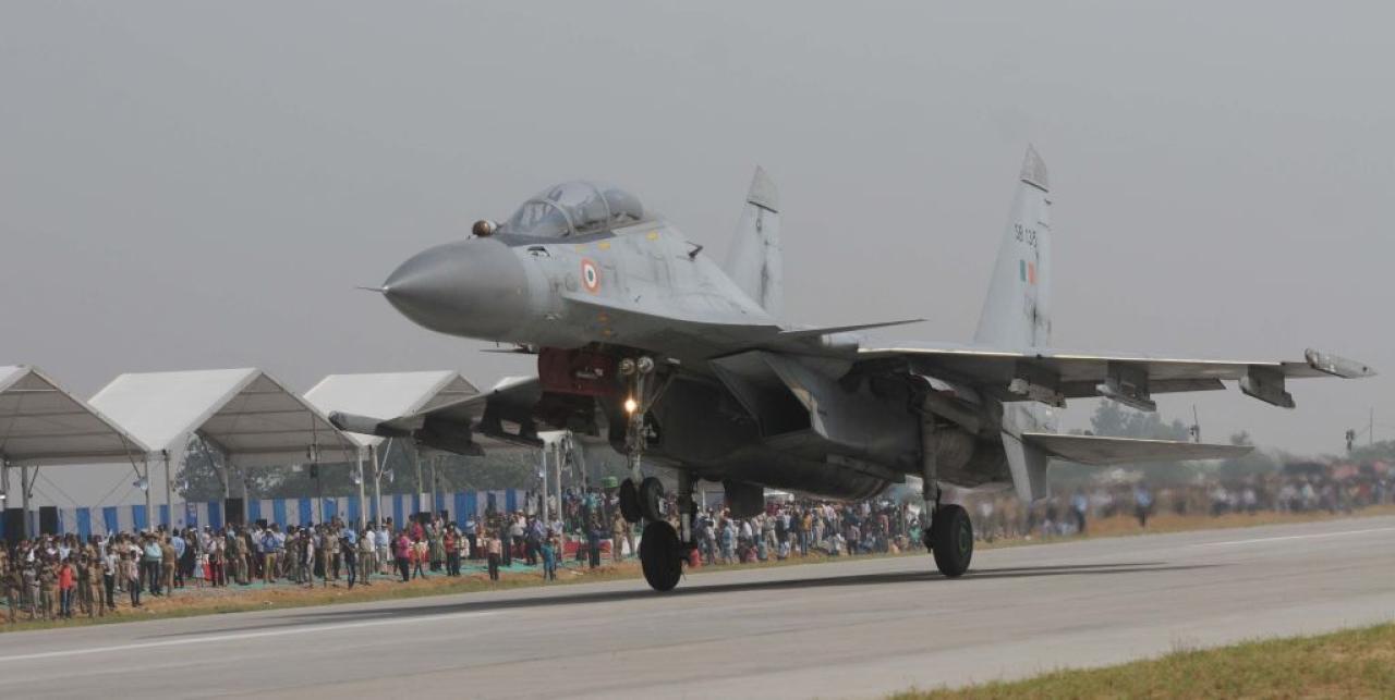 A Sukhoi Su-30MKI (Subhankar Chakraborty/Hindustan Times via Getty Images)