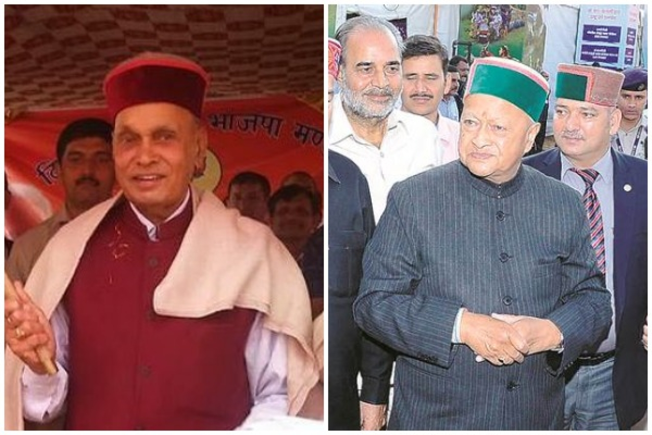 Prem Kumar Dhumal and Virbhadra Singh ... battle lines are drawn.