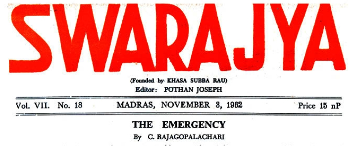 Rajaji On The Emergency Of 1962