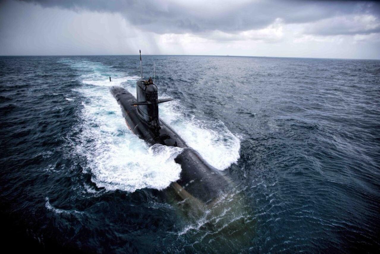 INS Kalvari during sea trials. (Livefist/Twitter)