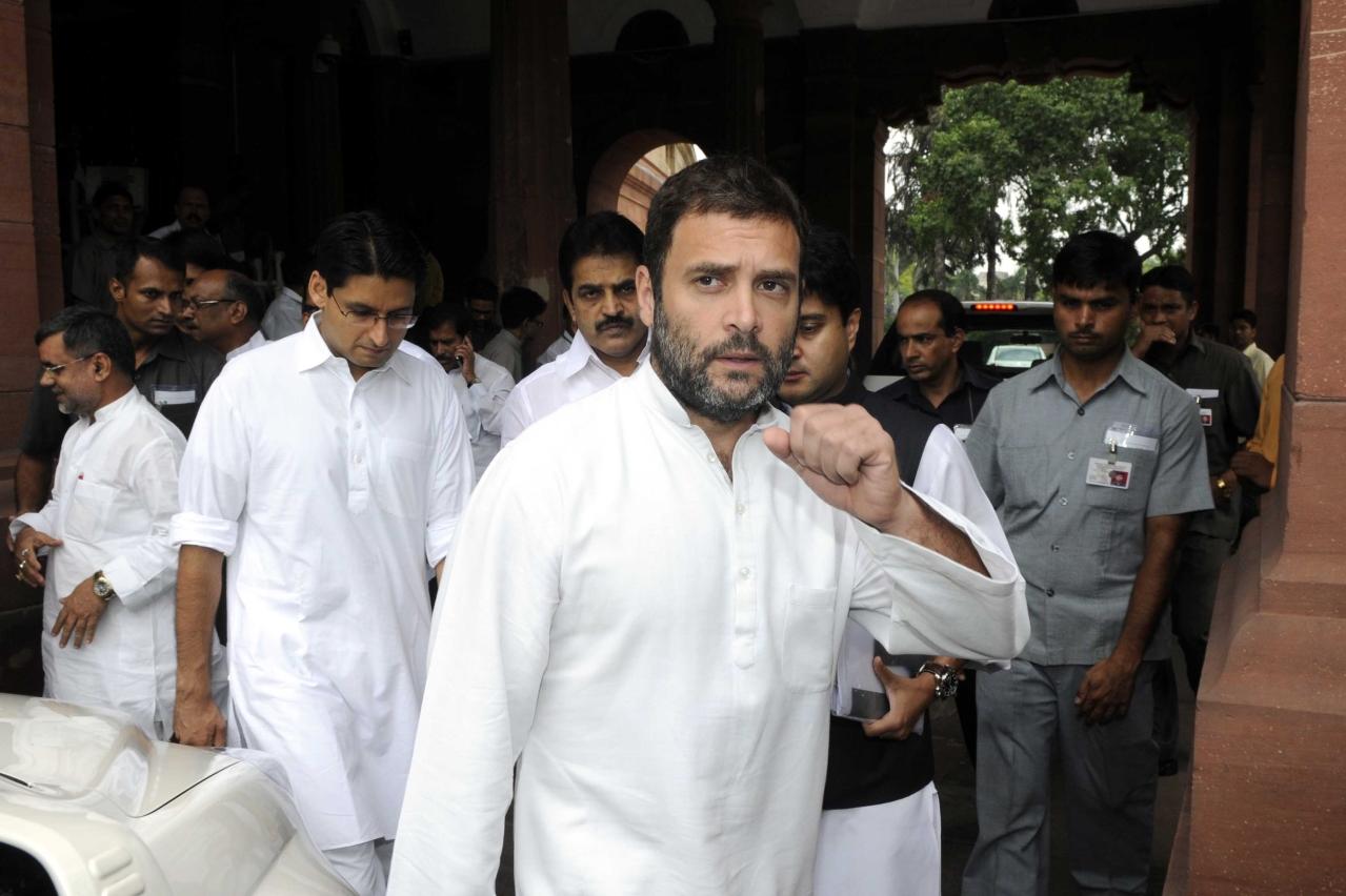 Rahul Gandhi. (Sonu Mehta/Hindustan Times via GettyImages)