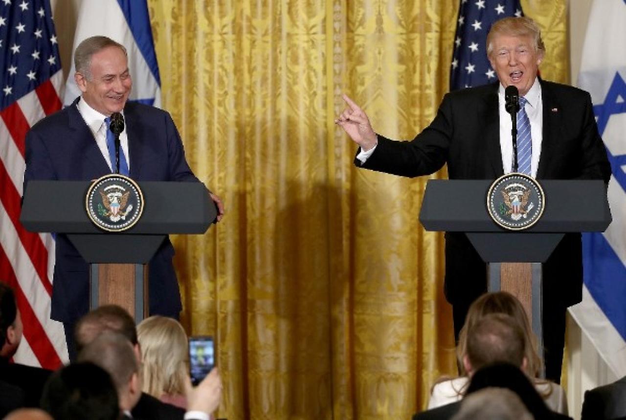 <p>Israel Prime Minister Benjamin Netanyahu and US President Donald Trump. (Win McNamee/Getty Images)</p>