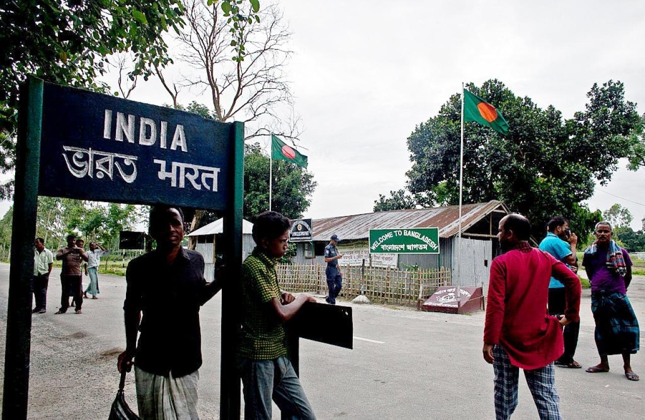 The India Bangladesh land border crossing. (Shazia Rahman/Getty Images)