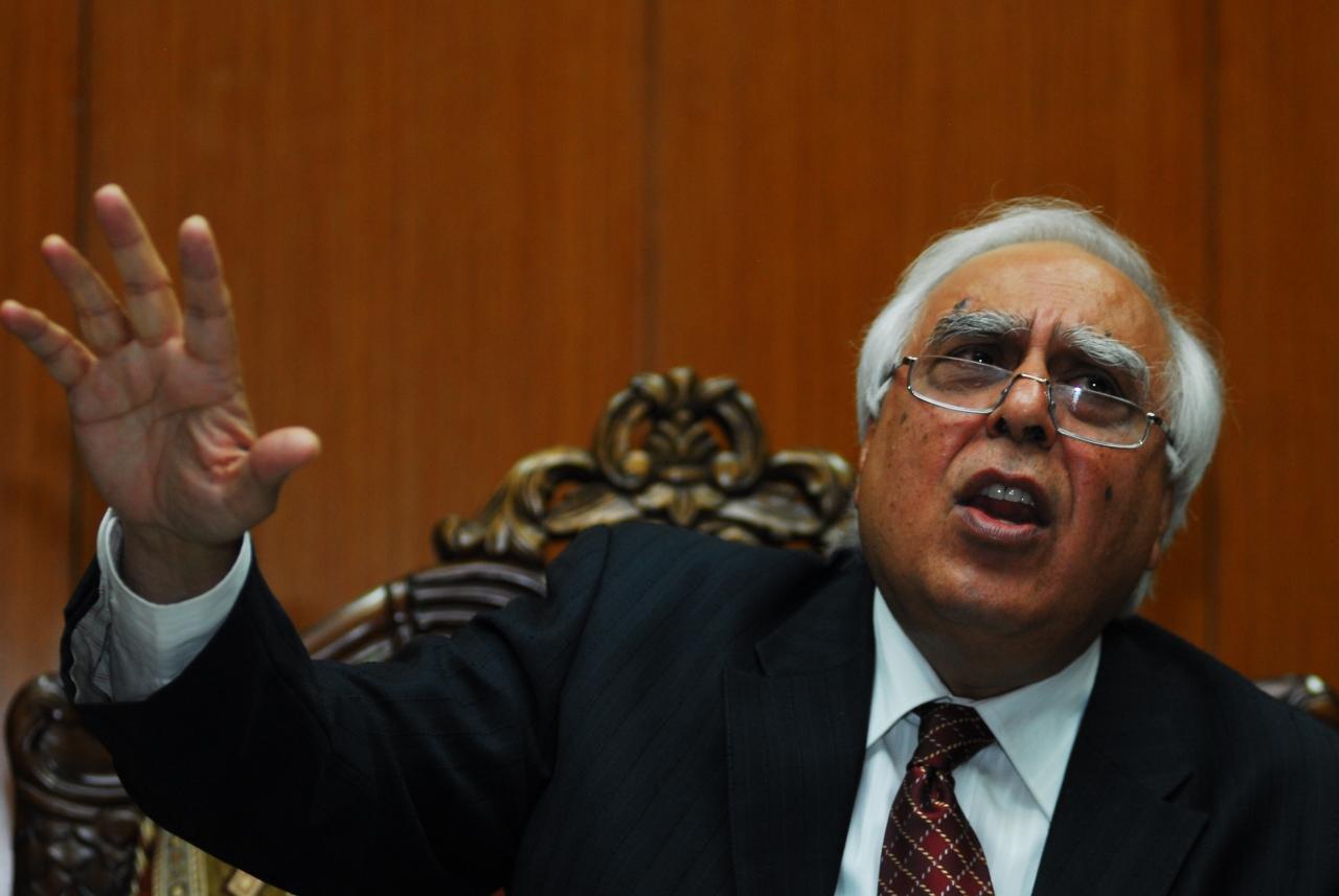 Congress leader and lawyer Kapil Sibal. (Pradeep Gaur/Mint via Getty Images)