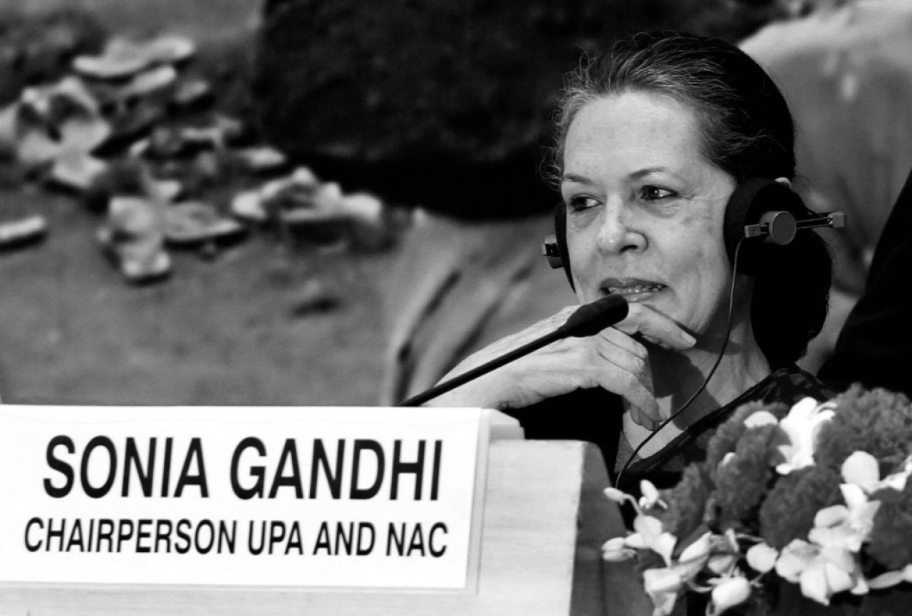 <p>Former Congress party president Sonia Gandhi (Mohd Zakir/ Hindustan Times via Getty Images)</p>