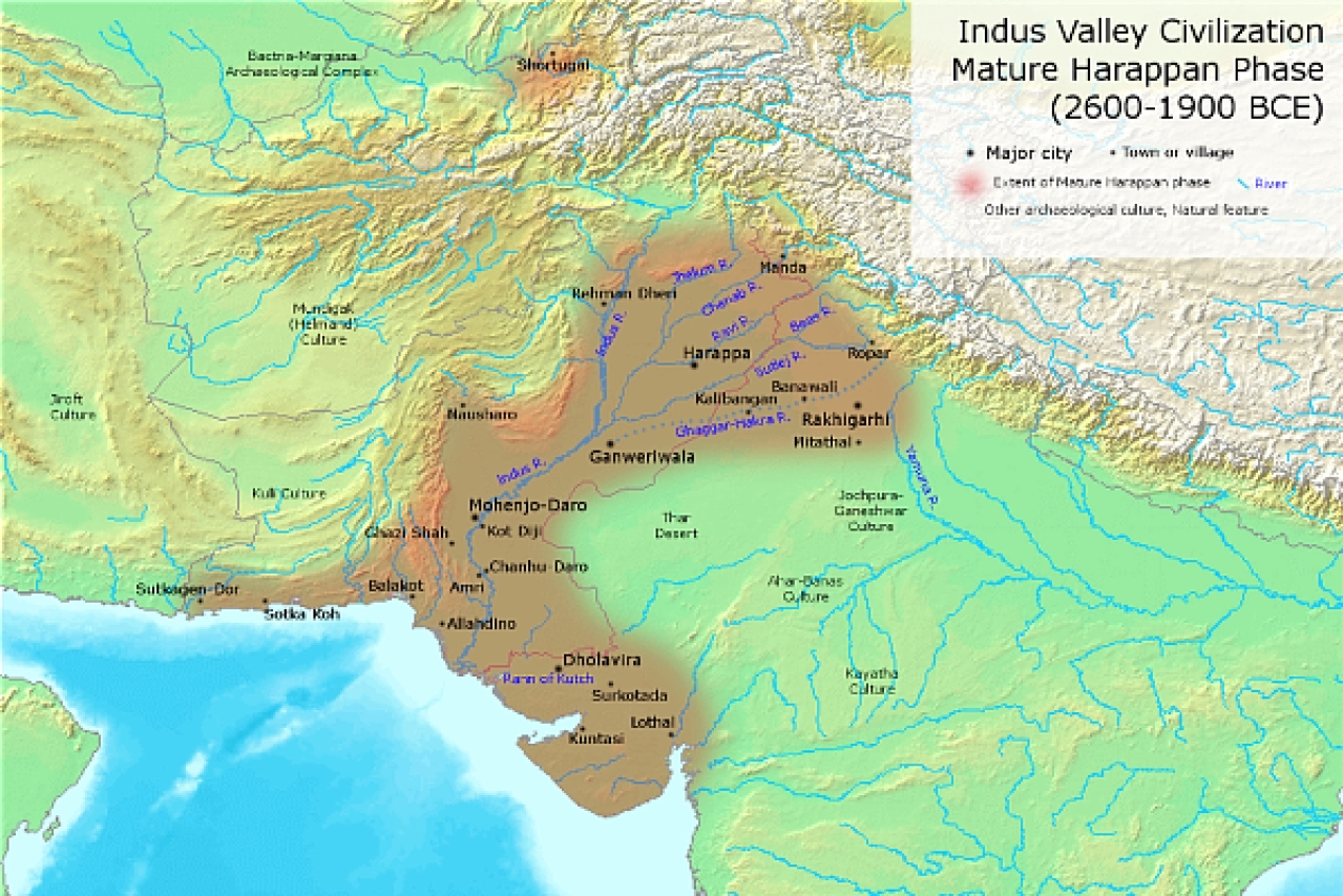 The Indus Valley civilisation. (Wikimedia Commons)