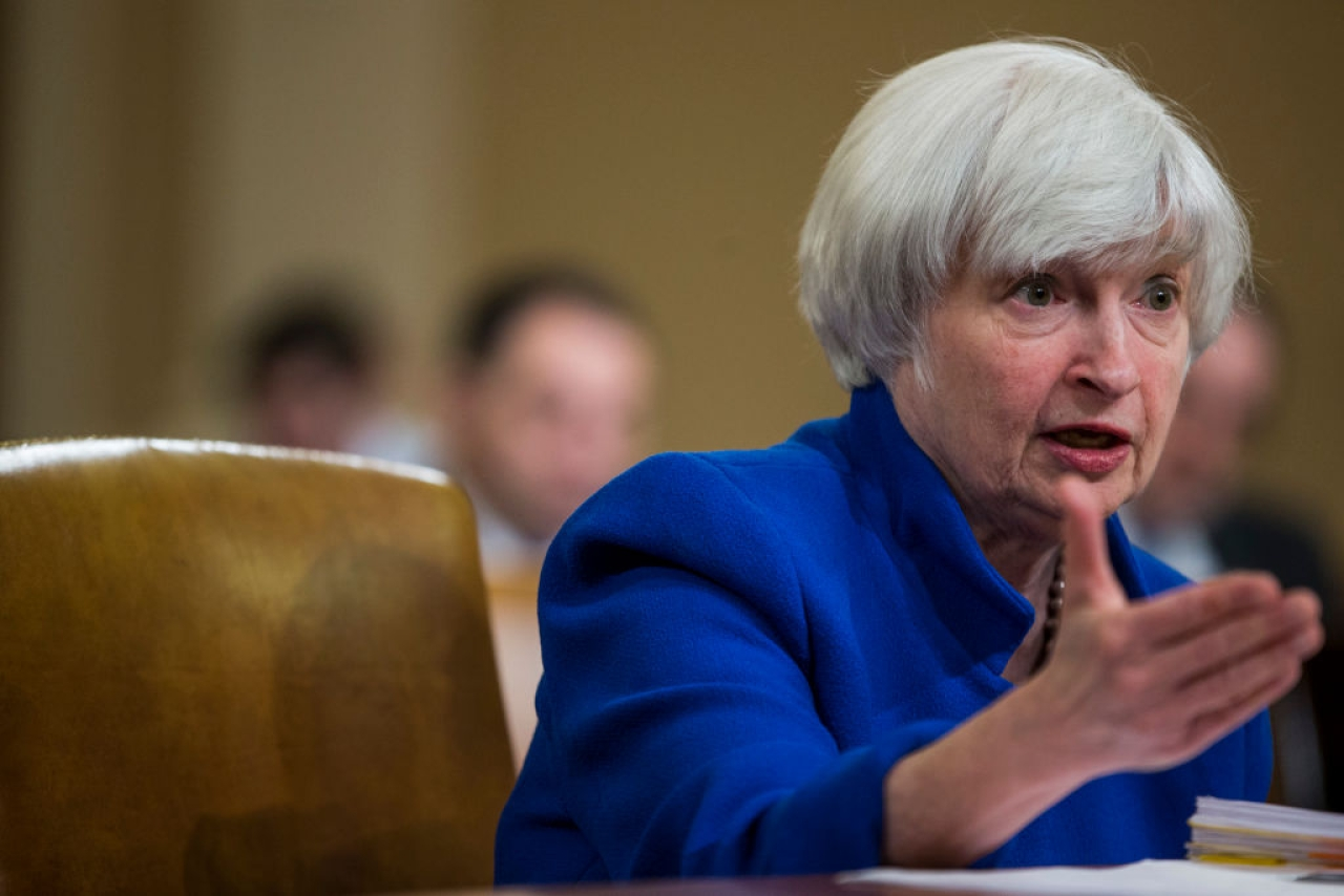 Federal Reserve Chair Janet Yellen testifies during a Joint Economic Committee on Economy Hearing on Capitol Hill November 29, 2017 in Washington, DC. (Zach Gibson/Getty Images)