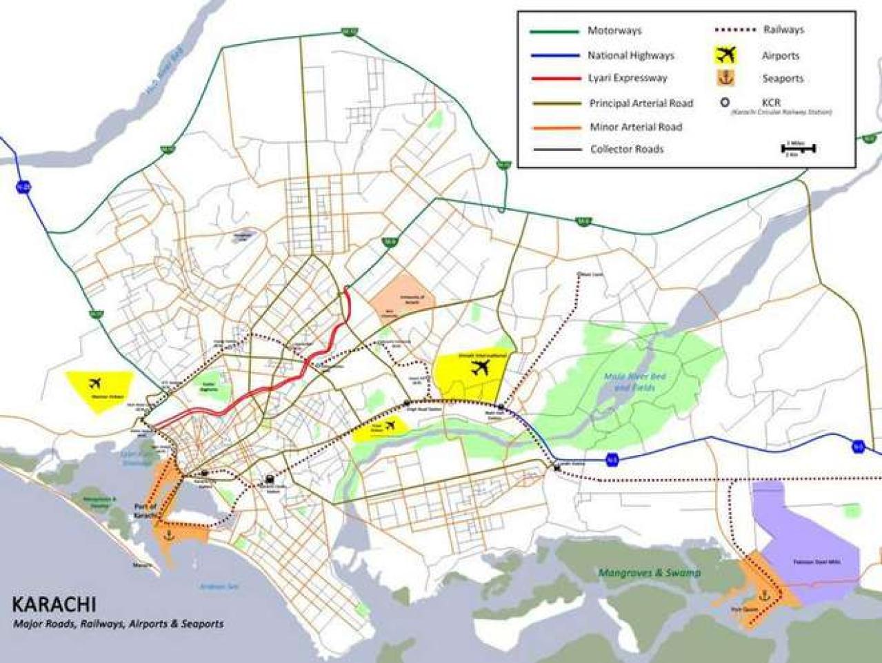 A map of Karachi