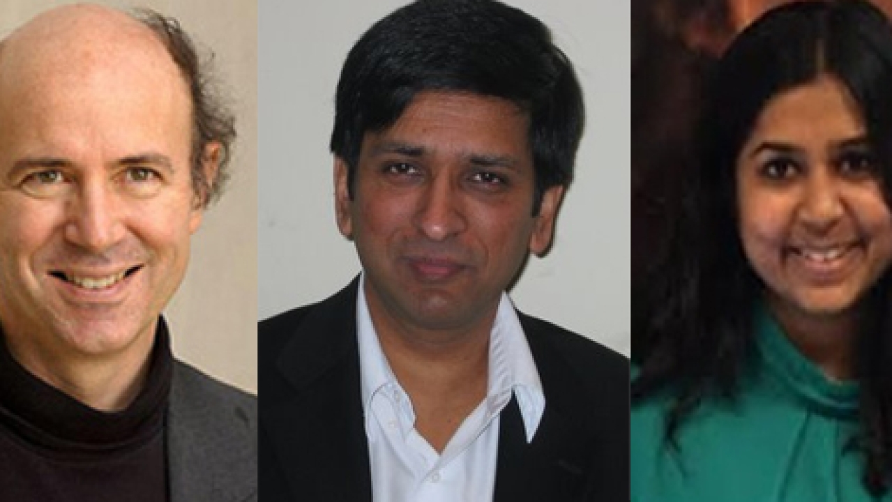 Crystal Warriors, from left, Frank Anthony Wilczek, Shivaji Sondhi, Vedika Khemani and Christopher Monroe