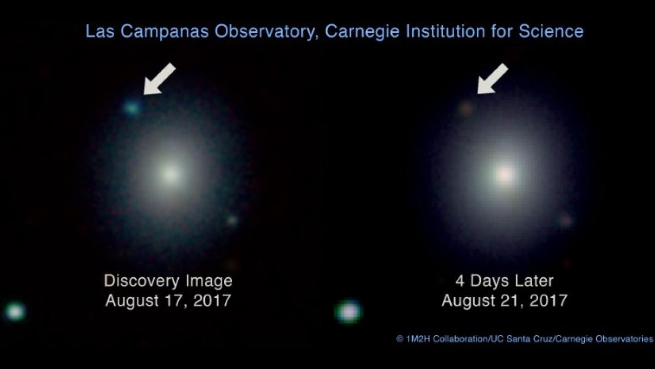 Neutron stars collision (picture courtesy CNN)