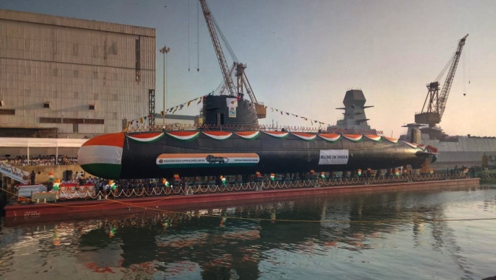 Karanj, Indian Navy's Third Scorpene Class Submarine, Launched In Mumbai