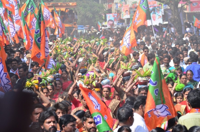 """<span style=""""color: rgb(75, 75, 75); font-family: Roboto, sans-serif; font-size: 16px; white-space: pre-wrap; background-color: rgb(255, 255, 255);"""">Participants at a BJP rally in North Karnataka</span>"""